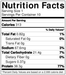 10.NutritionLabel.lasagna