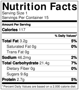 9.NutritionLabel.bananaBread