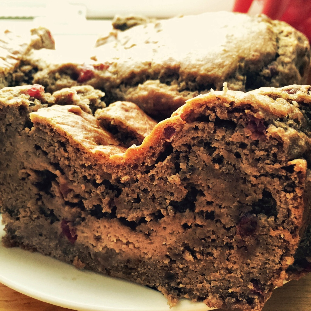 Banana and Blackcurrant cake